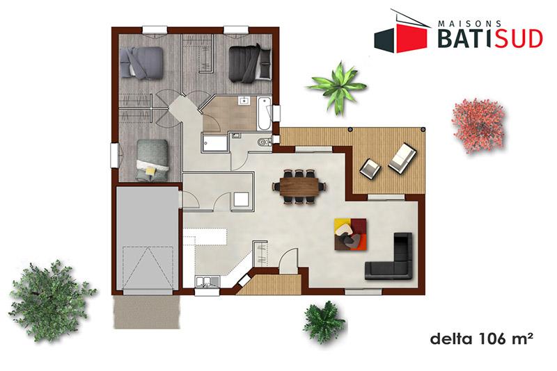 delta 04 maisons bati sud. Black Bedroom Furniture Sets. Home Design Ideas