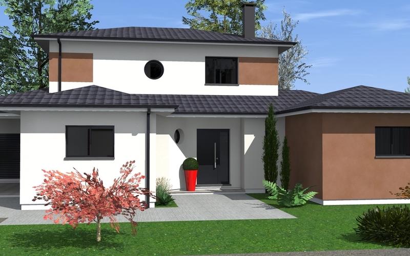 maison tage partiel aux lignes contemporaines maisons bati sud. Black Bedroom Furniture Sets. Home Design Ideas