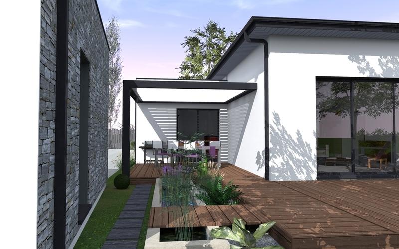 maison contemporaine 07 04 maisons bati sud. Black Bedroom Furniture Sets. Home Design Ideas