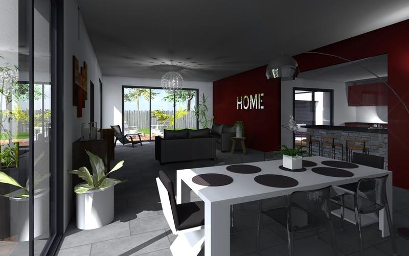 maison contemporaine 07 05 maisons bati sud. Black Bedroom Furniture Sets. Home Design Ideas