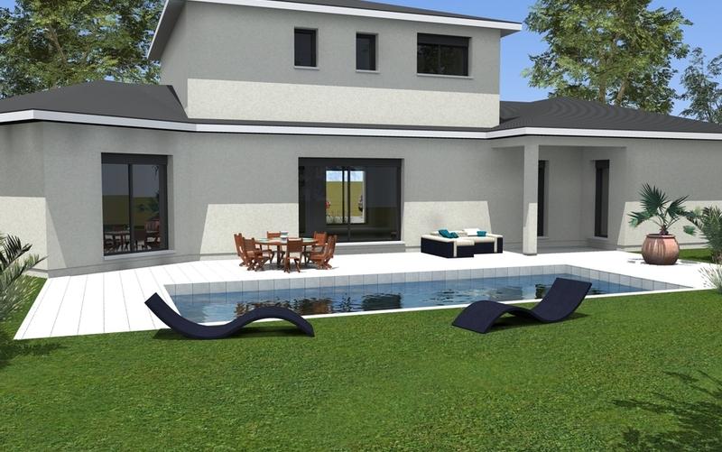 maison 3 volumes grands espaces maisons bati sud. Black Bedroom Furniture Sets. Home Design Ideas