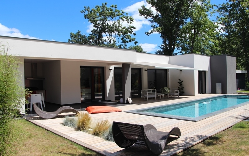 Maison Moderne Toit Terrasse Maisons Bati Sud