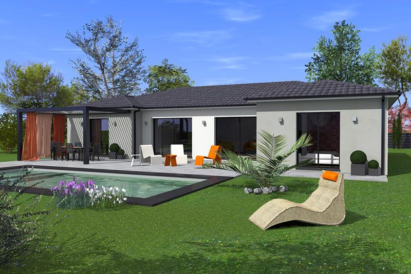 mod le tilla maisons bati sud. Black Bedroom Furniture Sets. Home Design Ideas