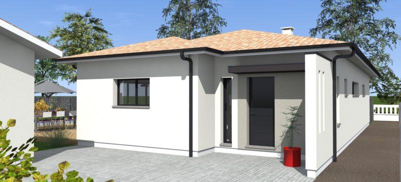 maison de plein pied de 125m maisons bati sud. Black Bedroom Furniture Sets. Home Design Ideas