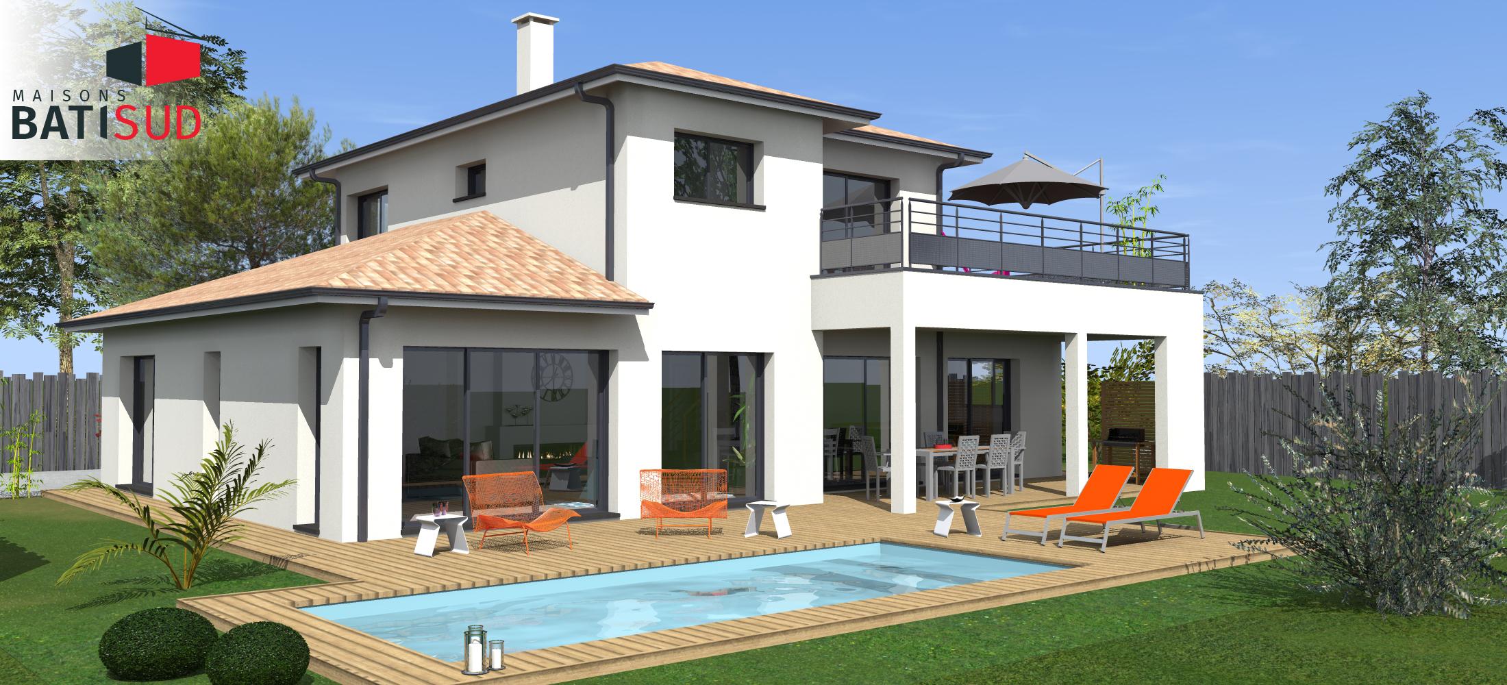 bati-sud-maginifique-maison-moderne-solarium-terrasse-couverte ...