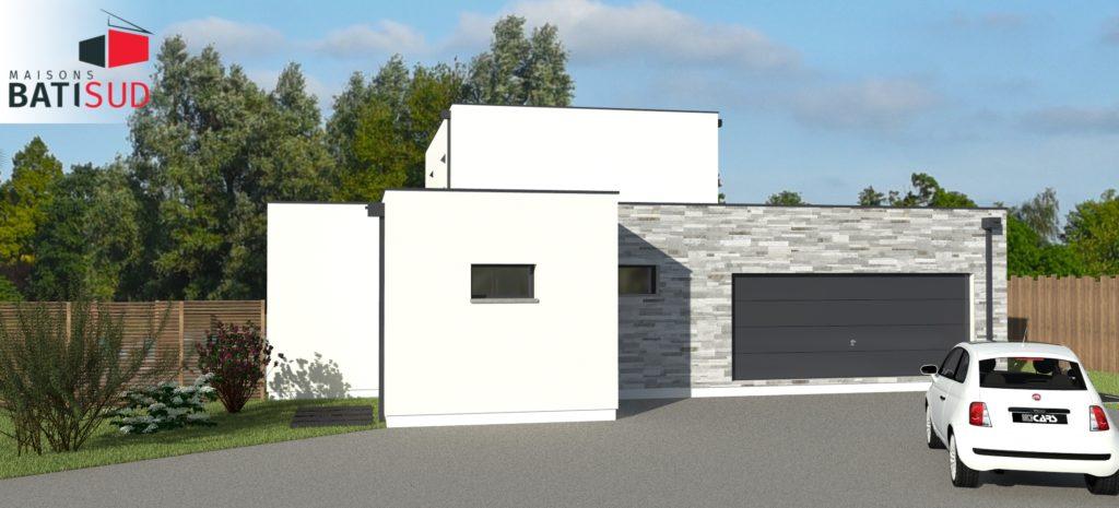 Maisons Bati Sud : Magnifique maison moderne avec toit terrasse.