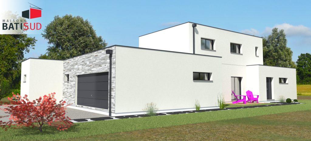 Maisons Bati Sud : Magnifique maison moderne avec toit terrasse.11