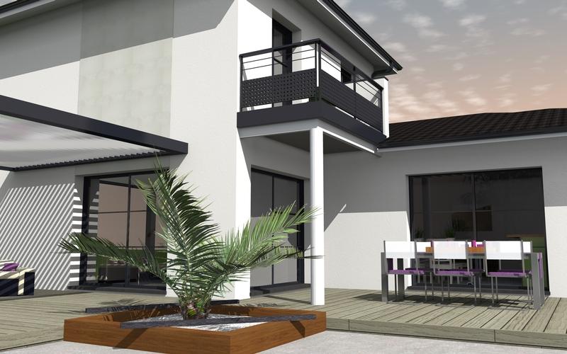 maison moderne etage partiel ventana blog. Black Bedroom Furniture Sets. Home Design Ideas