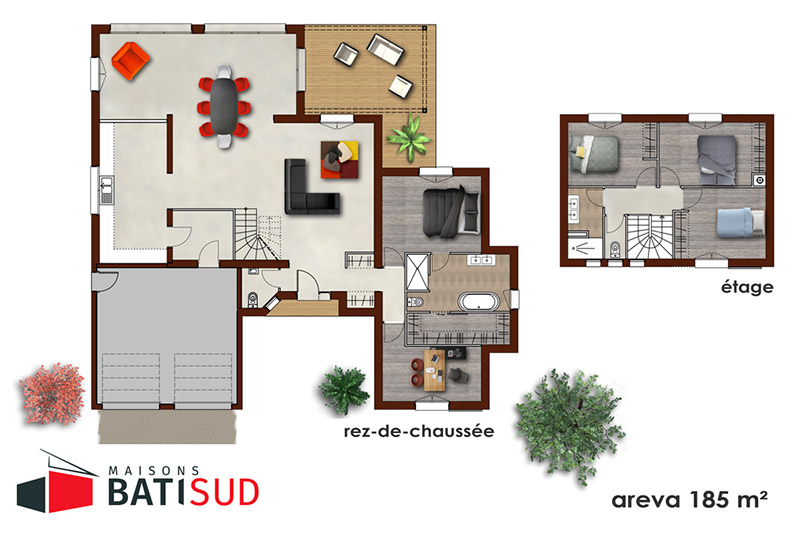 areva 03 maisons bati sud. Black Bedroom Furniture Sets. Home Design Ideas