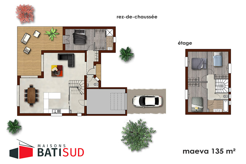 maeva 04 maisons bati sud. Black Bedroom Furniture Sets. Home Design Ideas