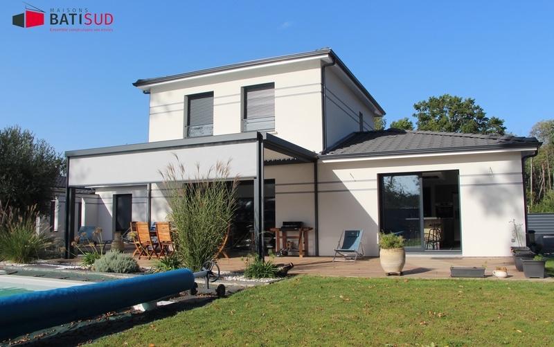 maison moderne etage partiel 02 maisons bati sud. Black Bedroom Furniture Sets. Home Design Ideas