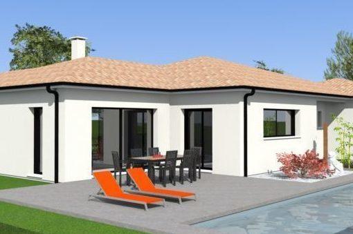 maison de plein pied de 170m maisons bati sud. Black Bedroom Furniture Sets. Home Design Ideas