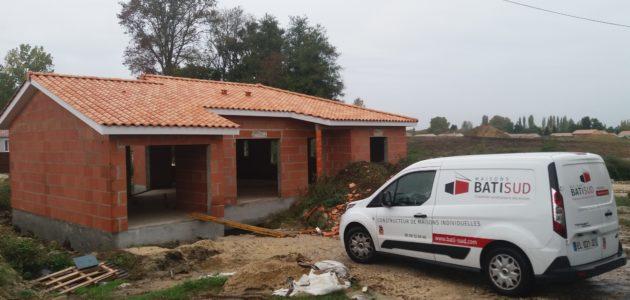 Bati Sud : chantier maison à Cavignac - 33
