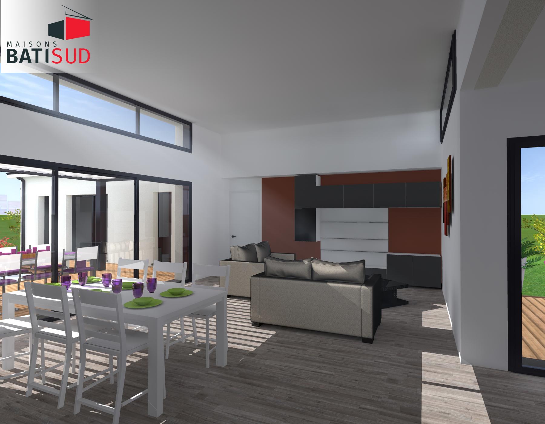 Maisons Bati Sud : Très belle maison moderne avec solarium et terrasse couverte. 5