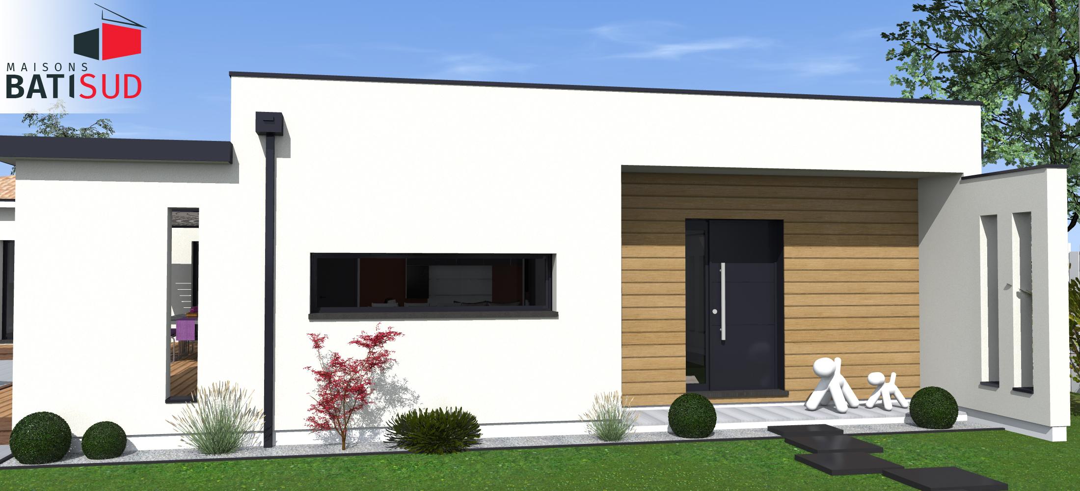 Maisons Bati Sud : Très belle maison moderne avec solarium et terrasse couverte. 4