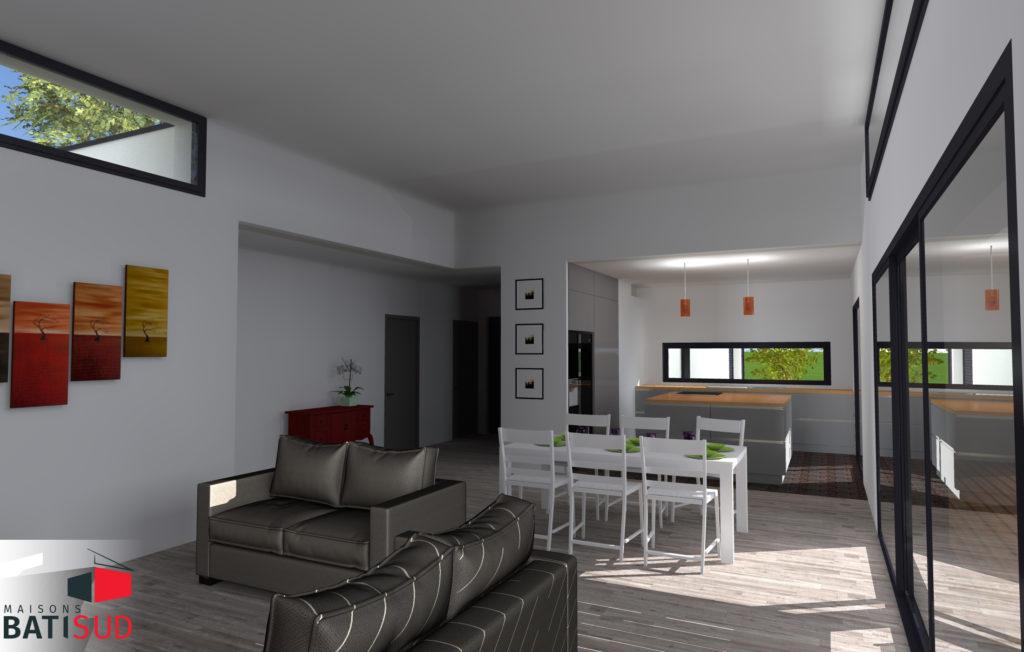 bati sud creation maison cenac 4 maisons bati sud. Black Bedroom Furniture Sets. Home Design Ideas