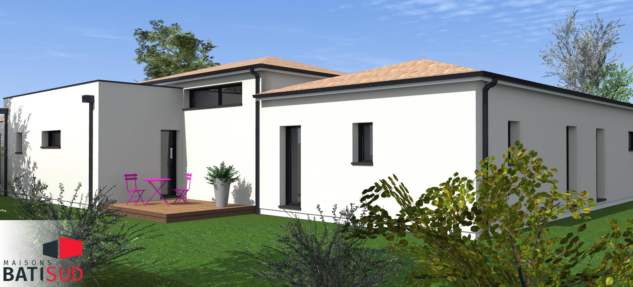 Maisons Bati Sud : Très belle maison moderne avec solarium et terrasse couverte. 2