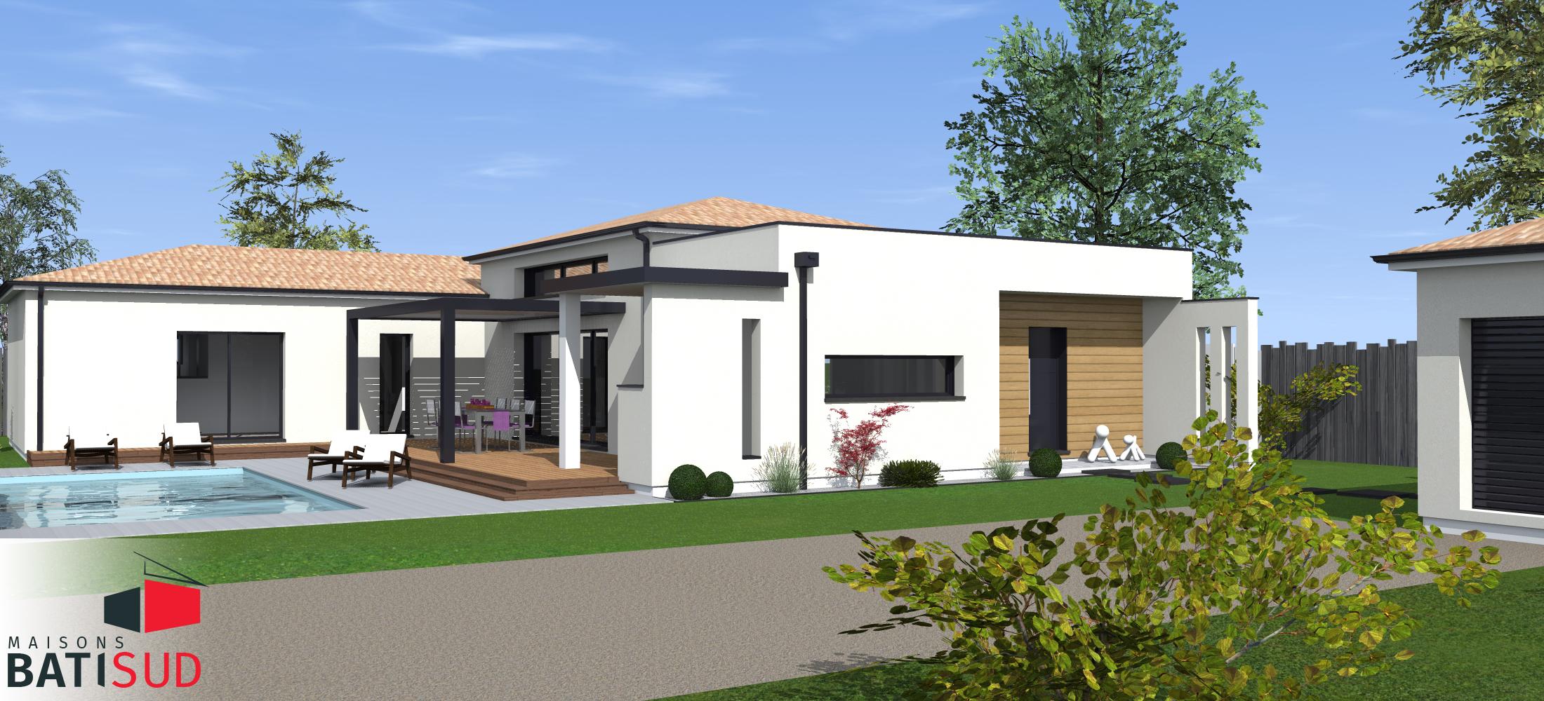 Maisons Bati Sud : Très belle maison moderne avec solarium et terrasse couverte. home