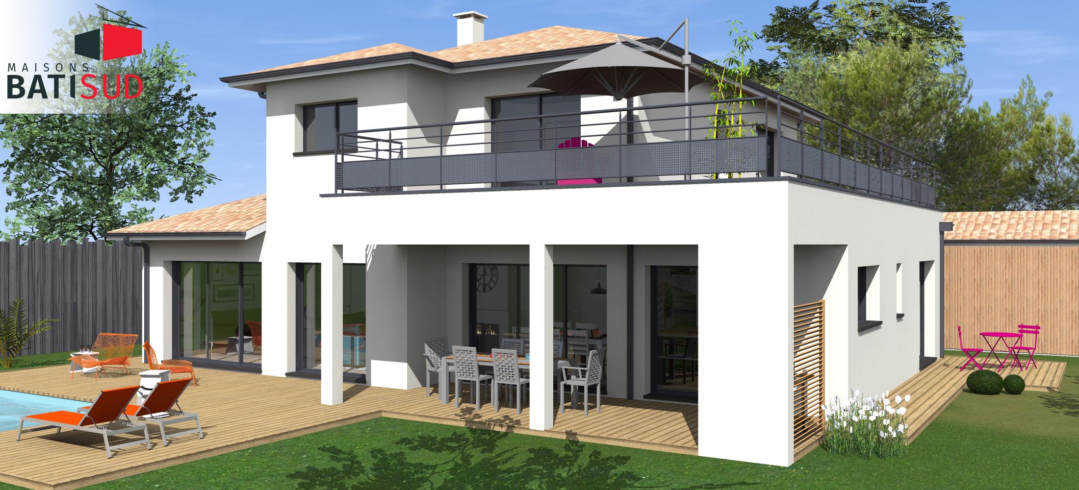 bati-sud-maginifique-maison-moderne-solarium-terrasse ...