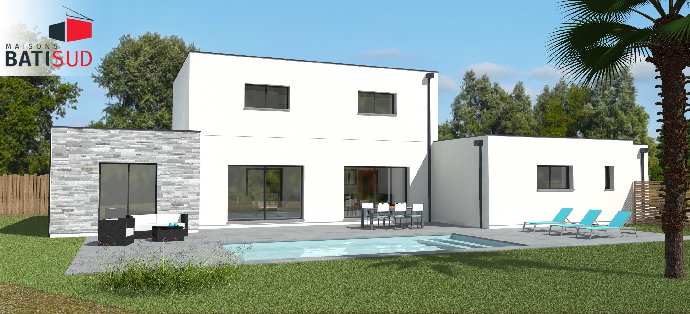 Maisons Bati Sud : Magnifique maison moderne avec toit terrasse.1