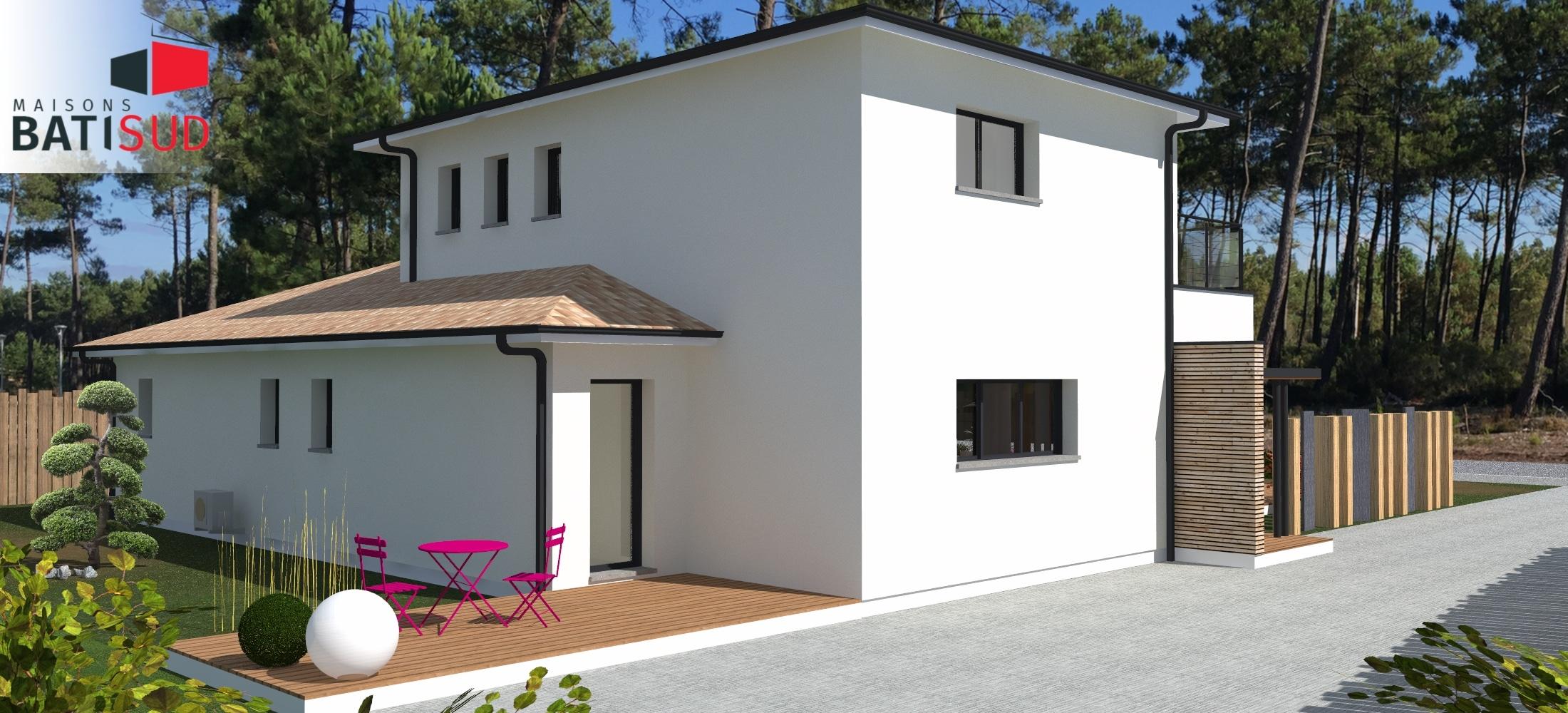 maisons bati sud construction andernos 2 maisons bati sud. Black Bedroom Furniture Sets. Home Design Ideas