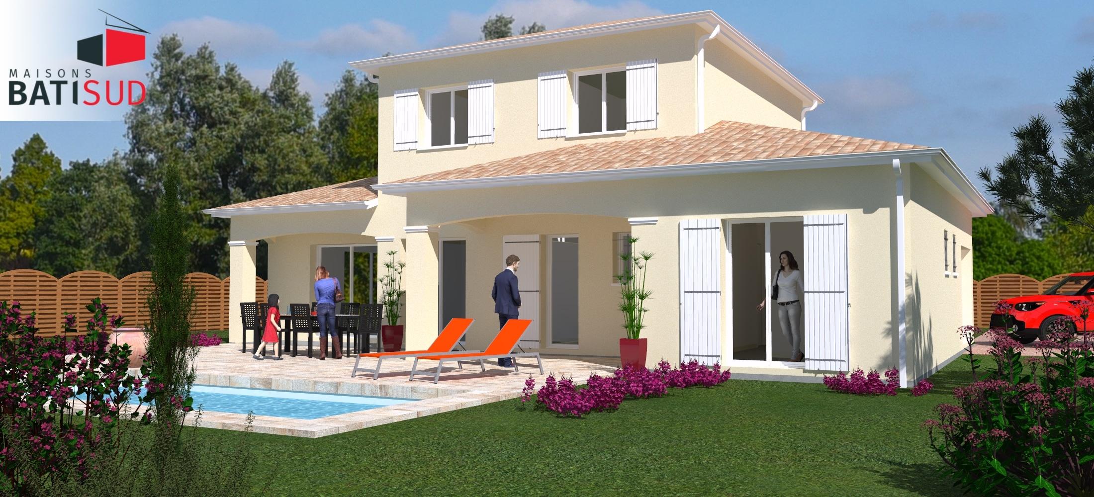 Maisons Bati Sud : Maison de 132m² à étage familiale à Carignan-de-Bordeaux