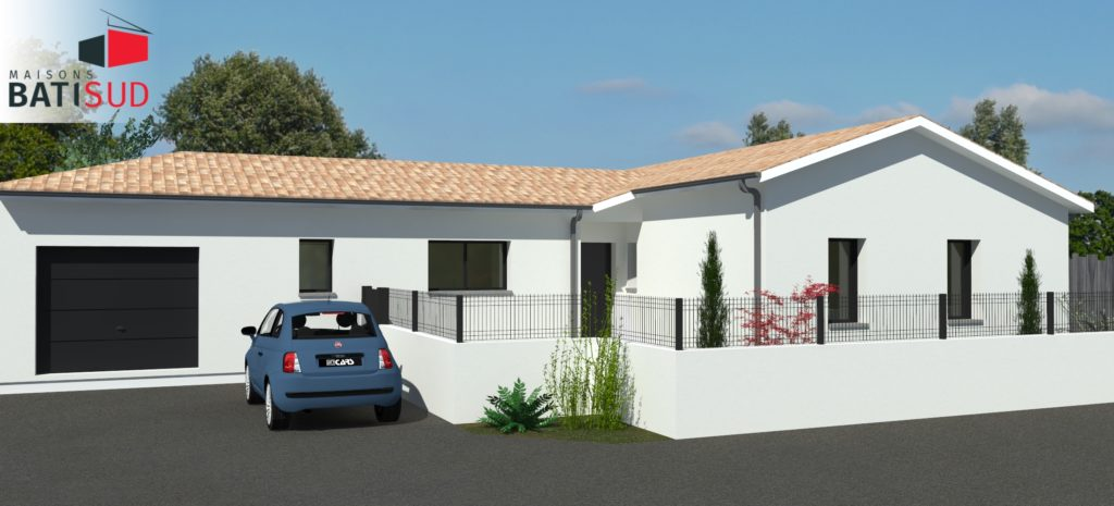 Maisons Bati Sud : Maison de plain-pied de 120m² à Saint-Médard-en-Jalles - Garage