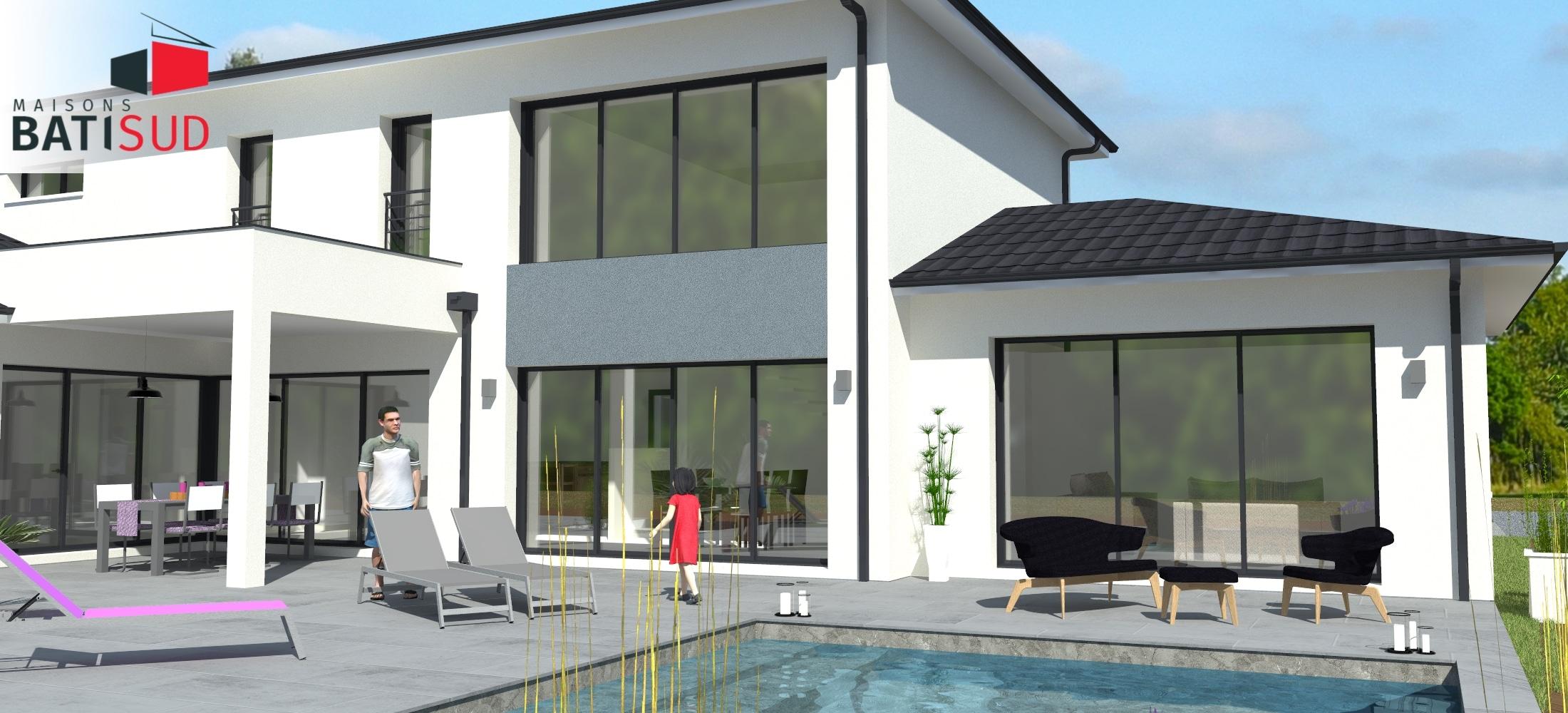 Maisons Bati Sud : Maison avec étage de 215m² à Pessac - 1