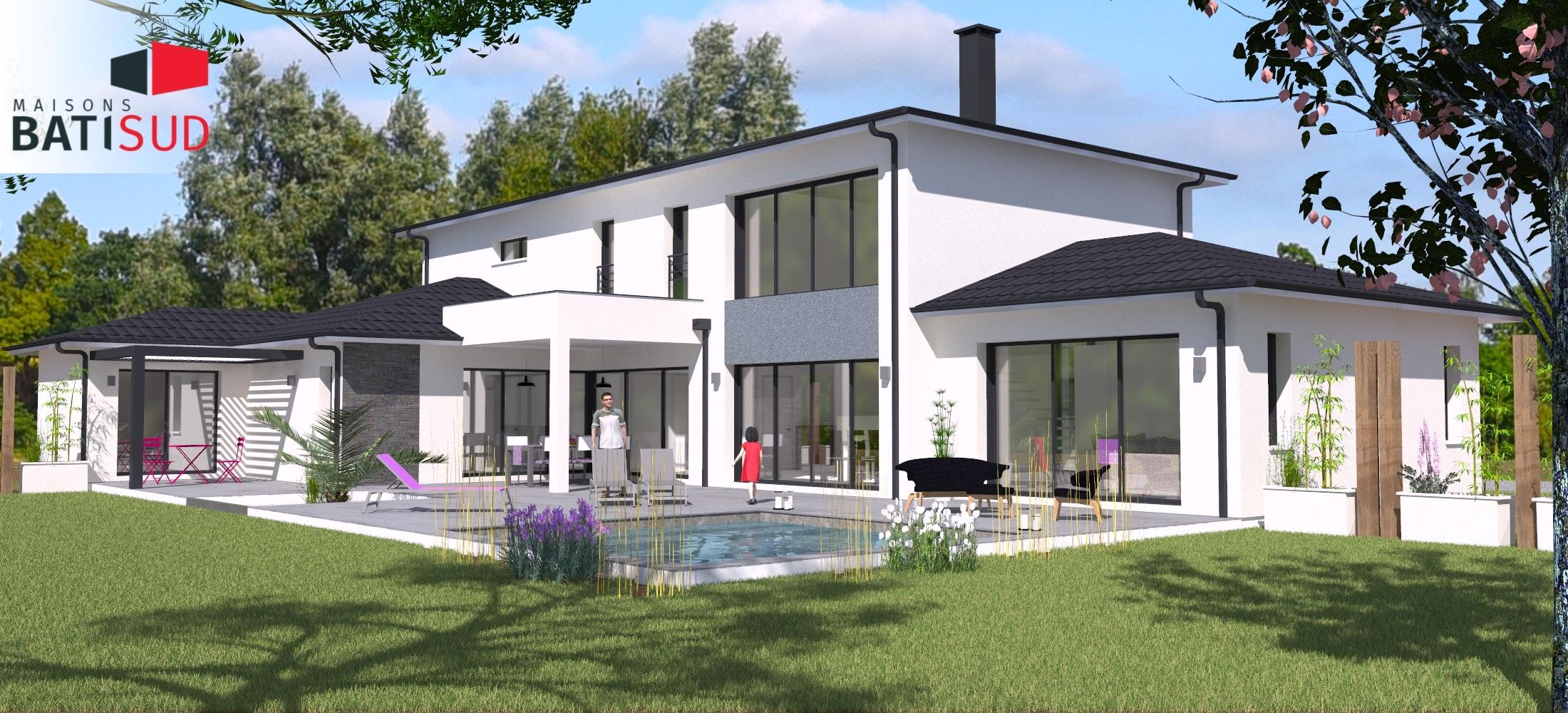 Maisons Bati Sud : Maison avec étage de 215m² à Pessac