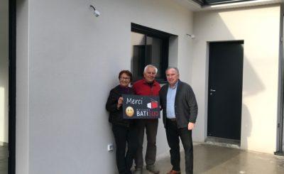 Maisons Bati Sud : Une nouvelle maison à Léognan pour nos clients de 80 ans !