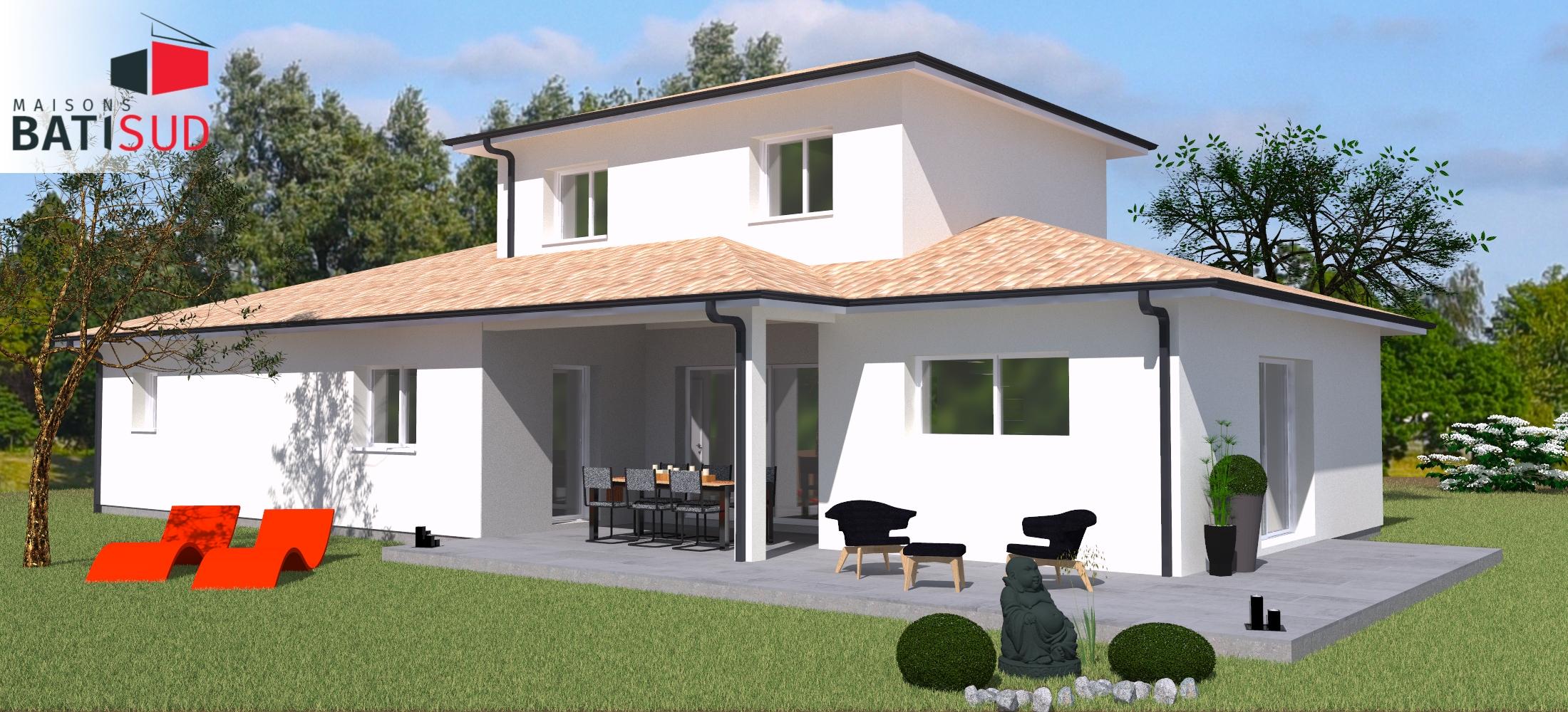 Maisons Bati Sud : Maison familiale de 125m² avec garage à Mios