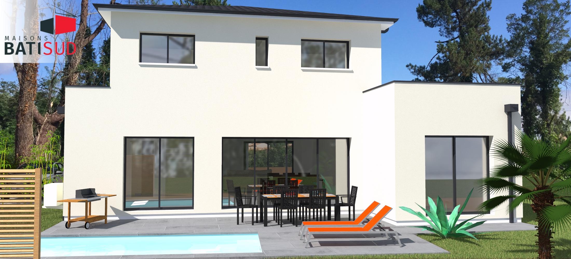 Maisons Bati Sud : Grande maison familiale et fonctionnelle à Léognan - Terrasse