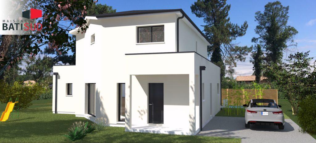 Maisons Bati Sud : Grande maison familiale et fonctionnelle à Léognan - Côté