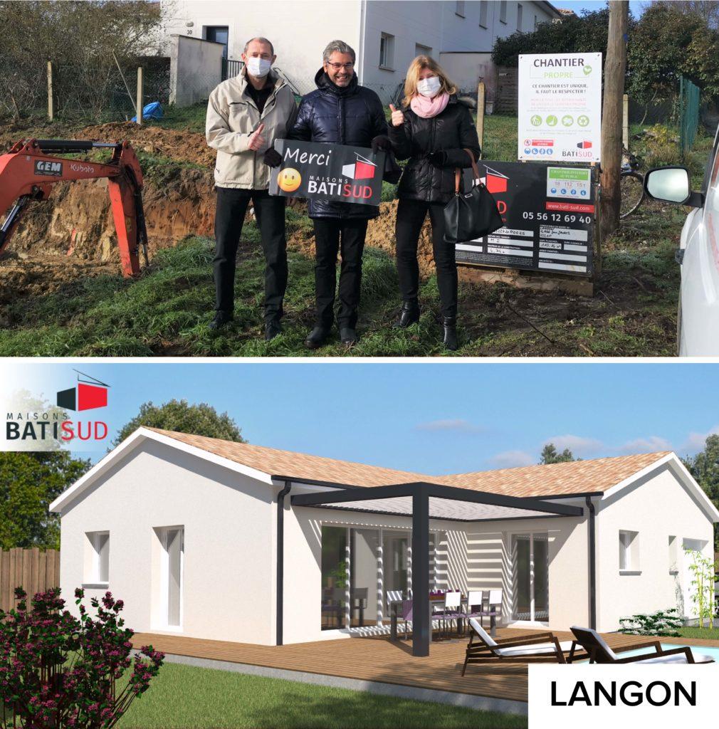 MAISONS BATI SUD : Ouverture chantier janvier à Langon