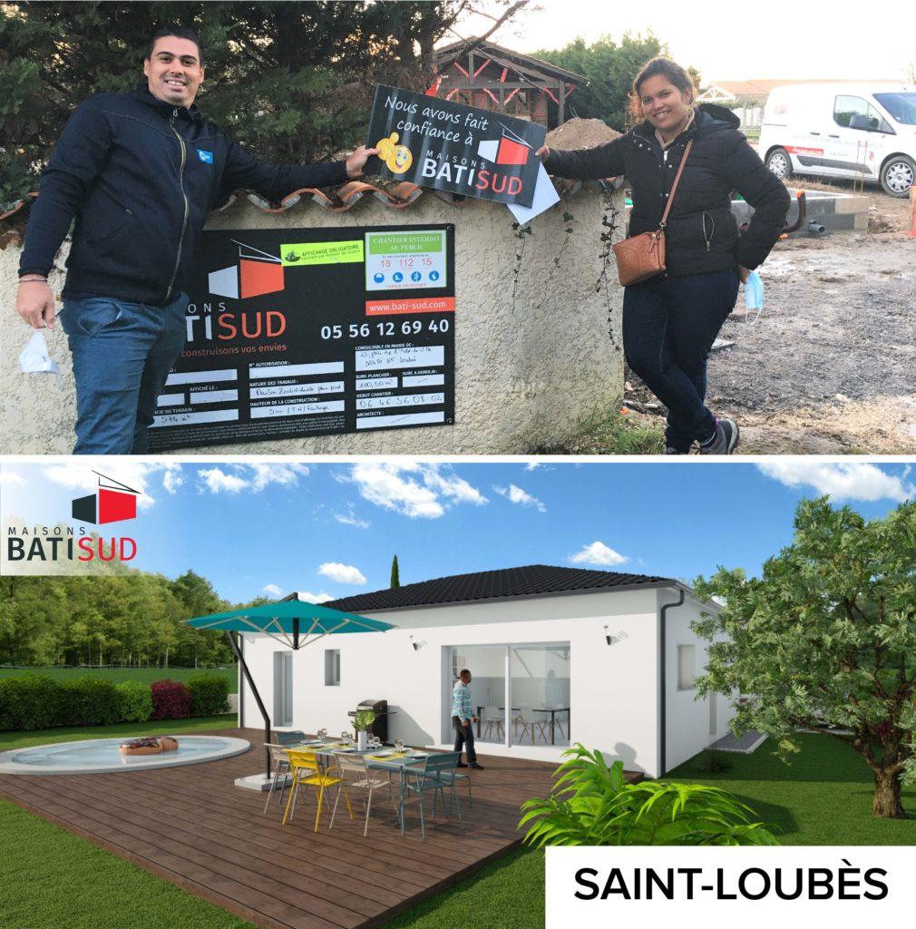 MAISONS BATI SUD : Ouverture chantier janvier à Saint-Loubès