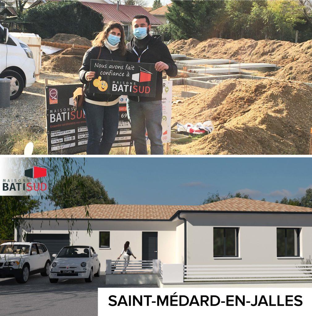 MAISONS BATI SUD : Ouverture chantier janvier à Saint-Médard-en-Jalles