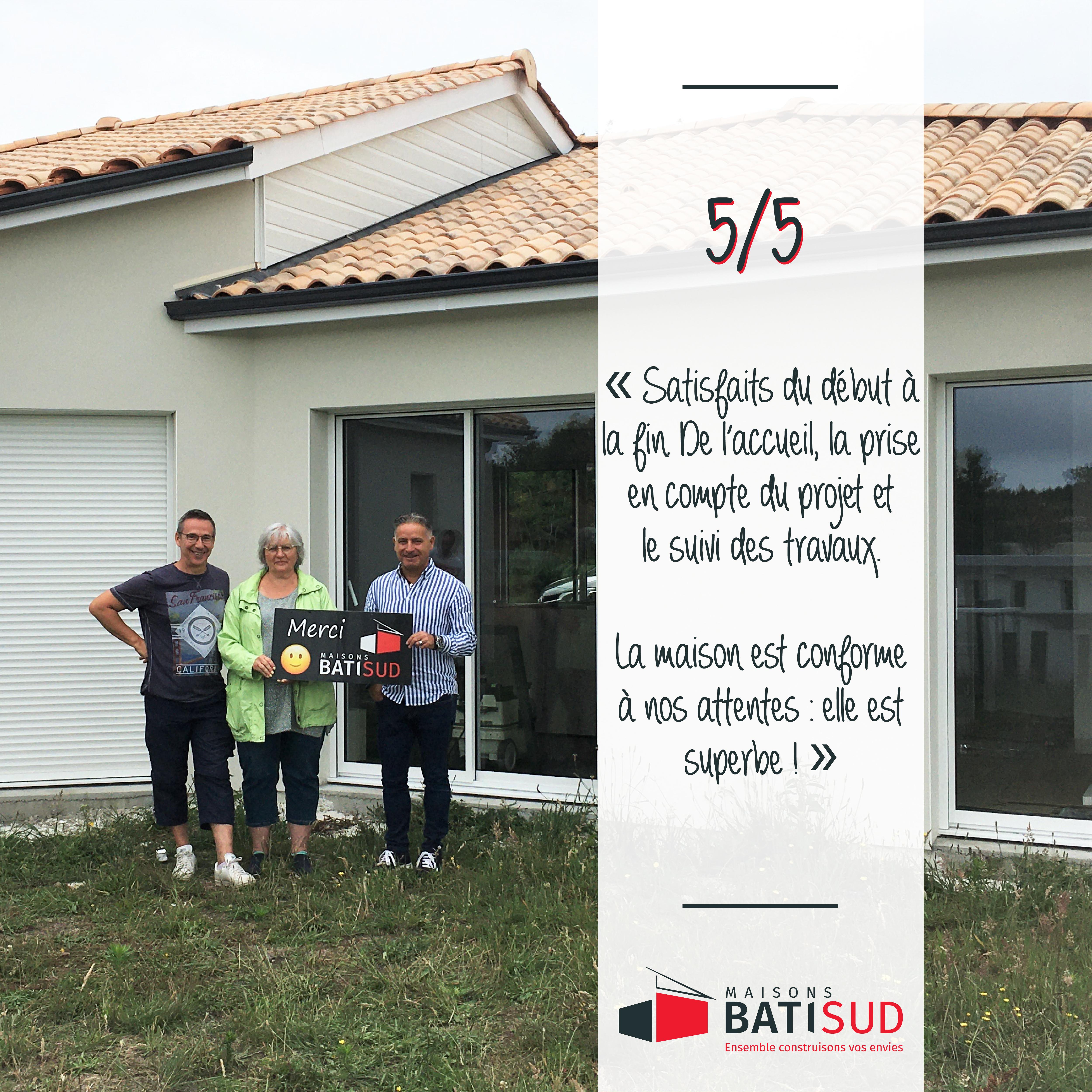 MAISONS BATI SUD - Réception d'une nouvelle maison à Hourtin - 1